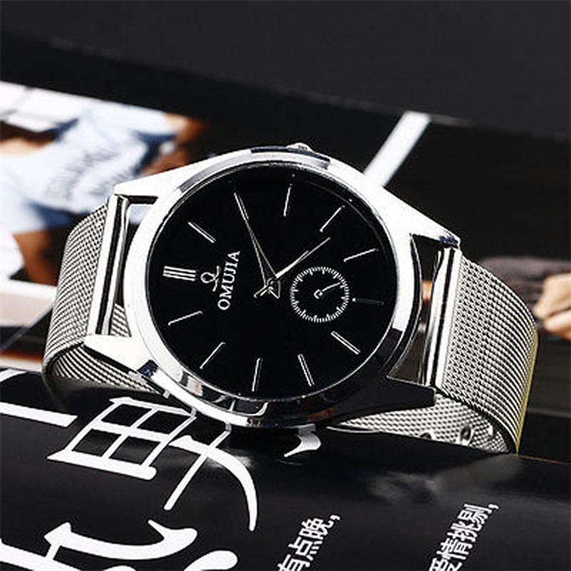New Style Quartz Watch Business Fashion CLAUDIA Men's Women's Stainless Steel Band Wrist Watches mens watches top brand luxury