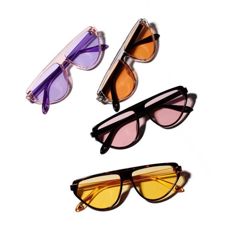 44a03630f1 Compre Mujeres Del Verano Colorsful Lens Gafas De Sol Unisex Grandes Gafas  Transparentes Diseño De Moda Marca De Marco Completo Señoras A $34.3 Del ...