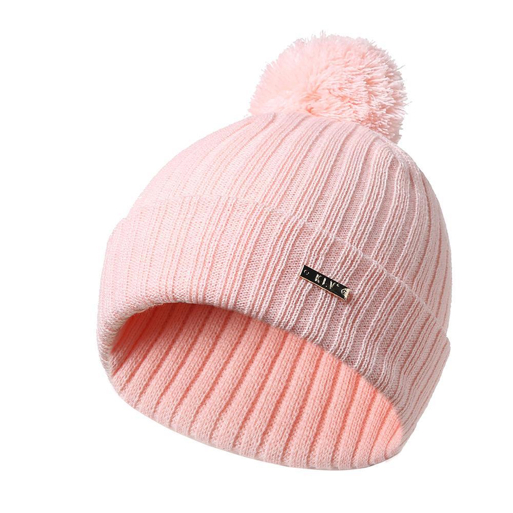 76a71119775 Winter Female Ball Cap Pom Poms Winter Hat For Women Girl  s Hat ...