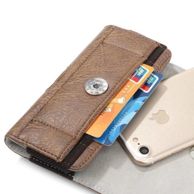 Pour Xiao Mi Xiaomi Mi max 2 MAX2 Cas Pierre modèle pu En Cuir Taille Sac Clip Ceinture Poche Mobile Téléphone Étui Couverture