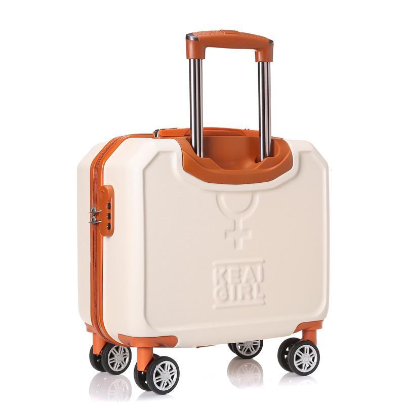 9a430b2fd679 Small Universal Wheels Travel Luggage Bag Female 16 Trolley Luggage Mini  Password Box