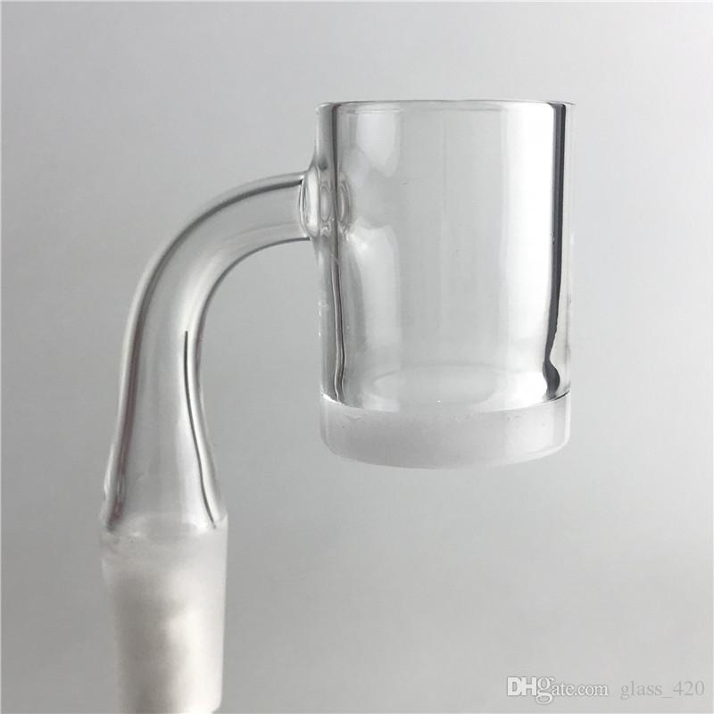 25mm quartzo gavel banger 2mm quartzo dom balde de mel 4mm de espessura inferior opaco quartzo banger prego para vidro bif