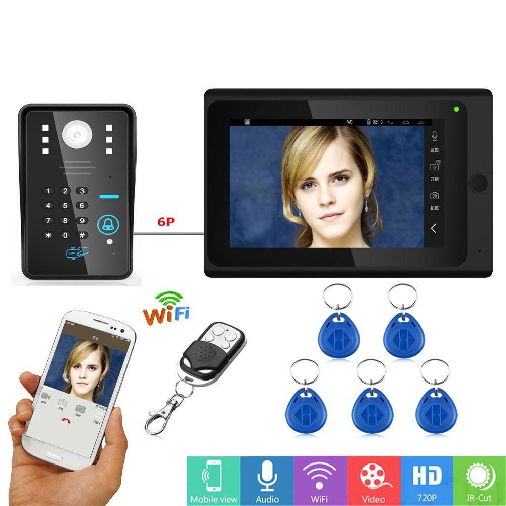 Wired Video Door Phone With Rfid Wifi Fingerprint Doorbell Intercom