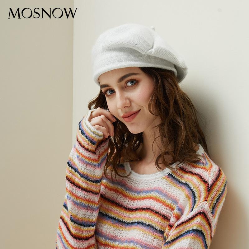 43159c5b076 Women Knitted Beret Winter Warm Hat Female 2018 New Brand British ...