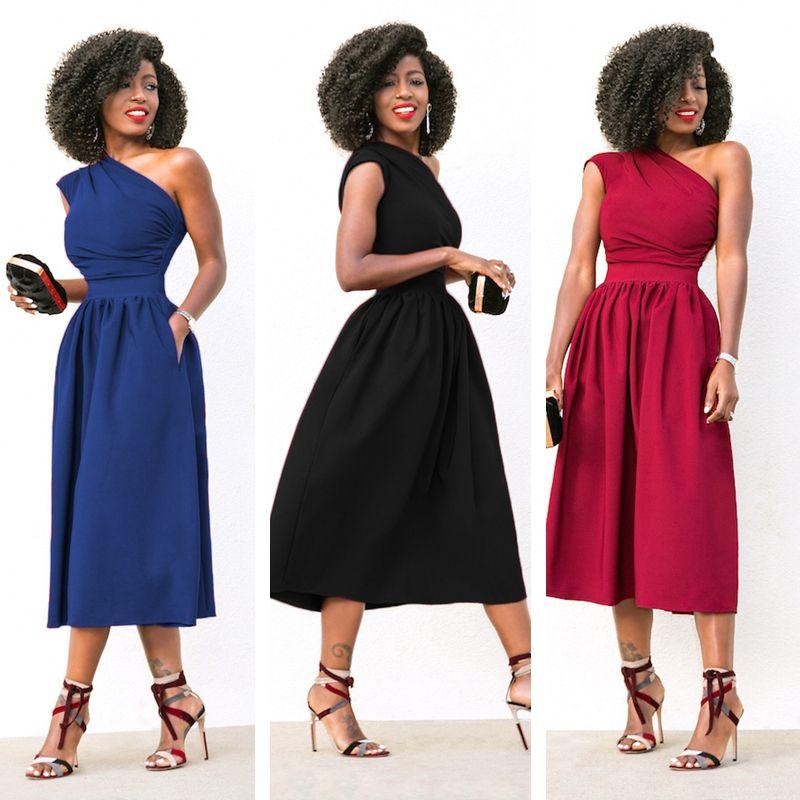effe76612460 Acheter Robe De Soirée Pour Femme Jupe Robes Vêtements Pour Femmes Robe  Bustier Sexy Femme Vintage Couleur Unie Été 164 De  14.99 Du Babyyuke    DHgate.Com