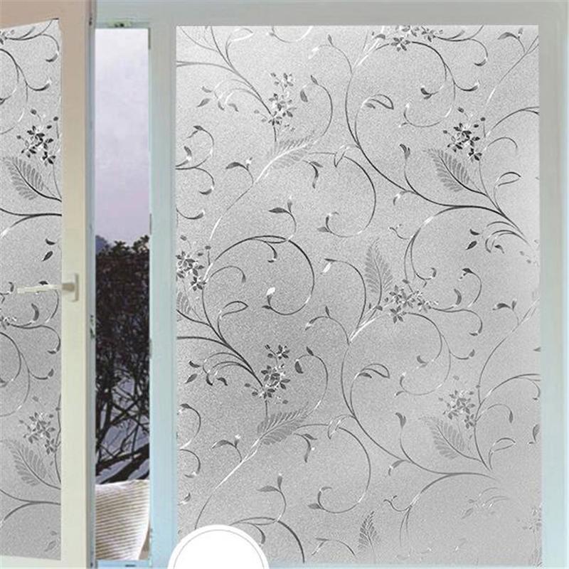 Beibehang Electrostatic Glass Sticker Window Light Transparent Opaque Bathroom Shade Sunscreen Glass Cellophane Wall Paper Black Wallpaper Blue Wallpaper ...