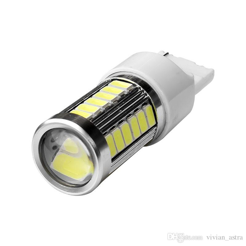 T20 7440 W21W WY21W 33smd 5730 5630 LED Car Yellow Amber Turn Signal Bulb Red Brake light White Auto Reverse Lamps