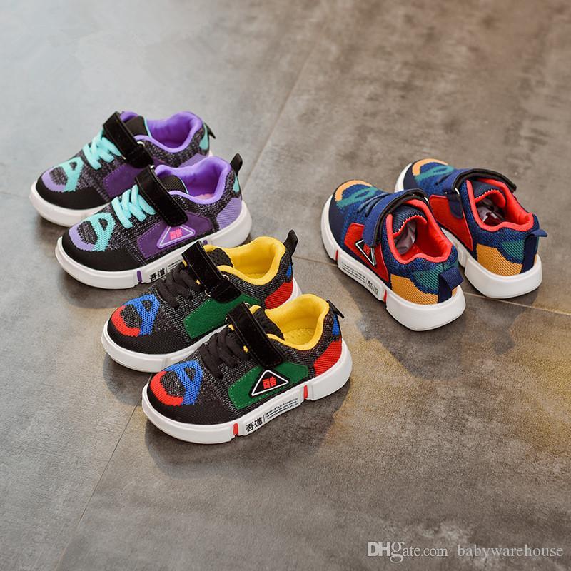 fascino dei costi autorizzazione spedizione gratuita Scarpe da bambino per bambini Novità Scarpe da ginnastica per bambini moda  autunno Scarpe da ginnastica colorate patchwork Runnng Scarpe da ginnastica  ...