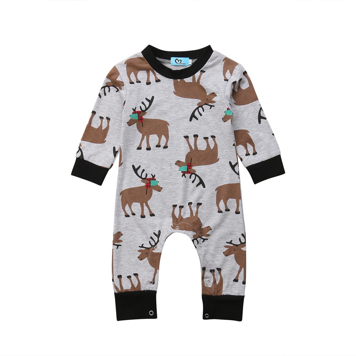 b2d0df0b0 Baby Boys Cute Animals Romper Long Sleeve Cotton Jumpsuit Outfits Clothes  Toddler Baby Boys Girls Clothing Christmas 0-18M Y18102907 Online with ...