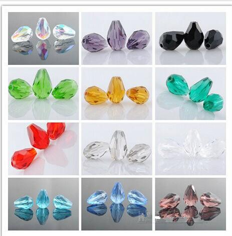 Wholesale Crystal Glass Faceted Beads Teardrop For Jewelry Making ... 06eaab3a0026