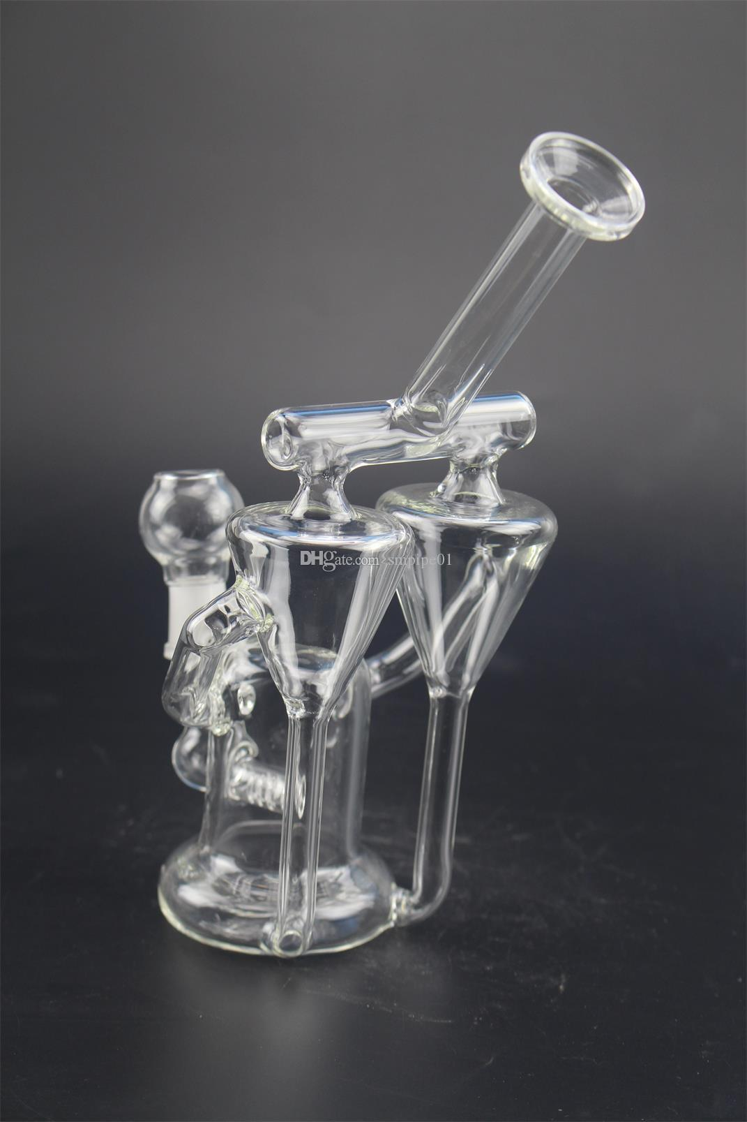 Transparent Hookah Individualized Design Glass Water Pipe Percolator unique appearance Glass Bong With Borosilicate Pyrex factory selling