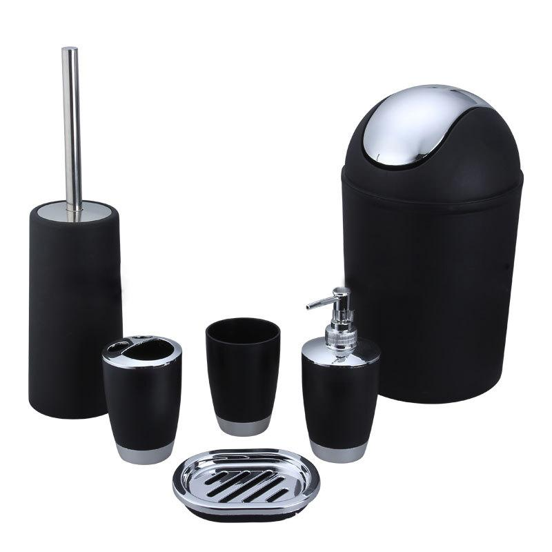 2018 Home Useful Plastic Bath Accessory Bathroom Set Dispenser Toothbrush  Holder Tumbler Cup Soap Dish Trash Toilet Brush From Kyouny, $34.35 |  Dhgate.Com