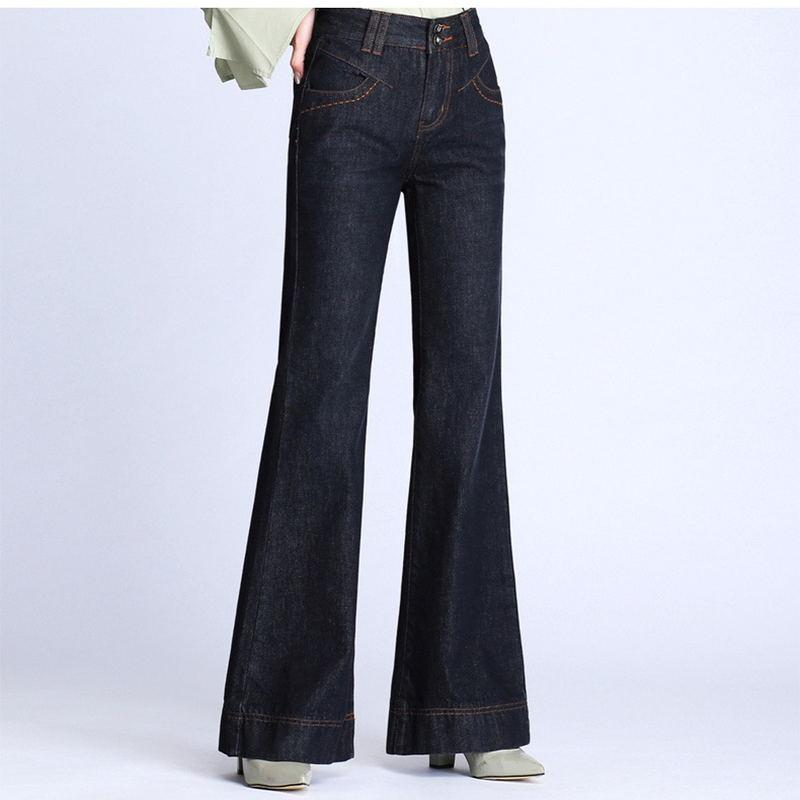 5b7385ec32c 2019 2018 High Quality New Women S Boot Cut Jeans Flare Bell Bottom Pants  Girls Business Casual Spring Autumn Trousers From Smotthwatch