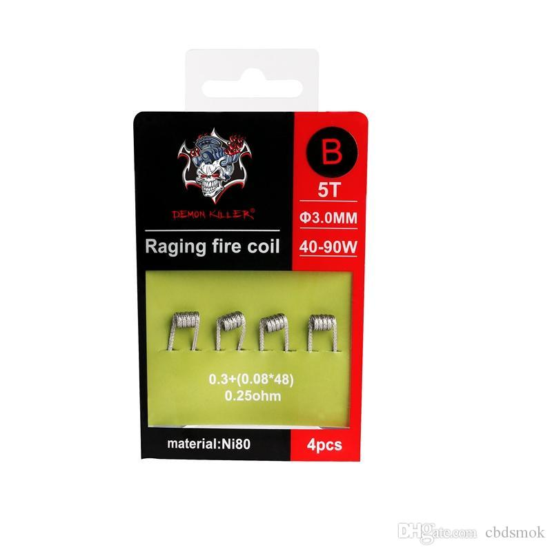 Demon Killer Raging Fire Coil Heating Wires Ni80 0.25ohm 0.27ohm ...