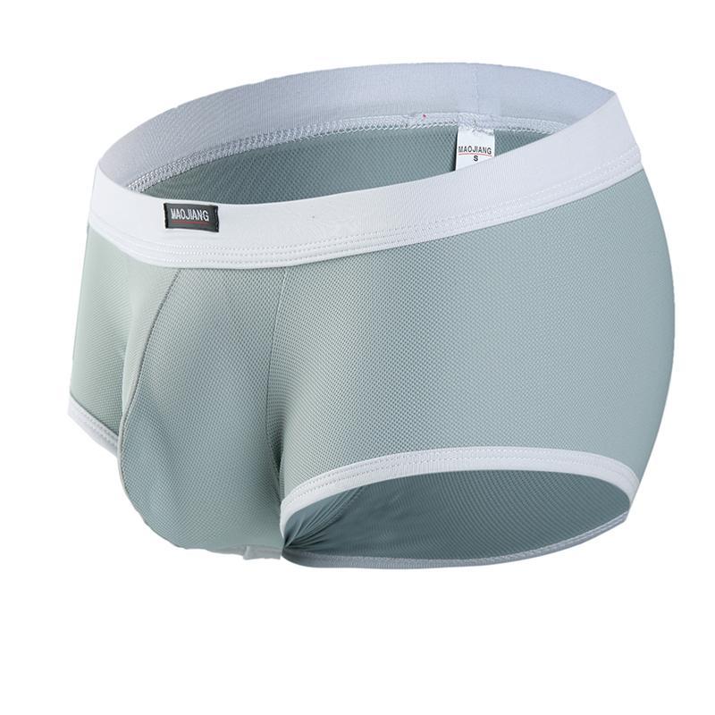 Uomo Sexy Nylon Intimo Boxer Shorts Uomo Low Rise U Convex Pouch Intimo Uomo Stretch Brief traspirante Boxer Shorts Intimo