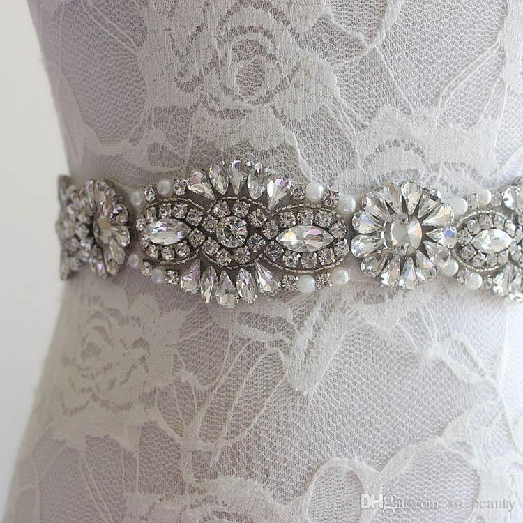 New Wedding Accessories Belt Bridal Sash Wedding Princess Rhinestone Belt Girl Flower Bridesmaid Dress Sash Multi Color Ribbon SW66