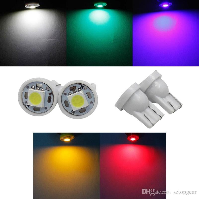 T10 W5W 5050 1 SMD LED Lampada 194 168 Auto Car Side Side indicatori di lettura Marker Indicare lampadine 12V 5-Colors
