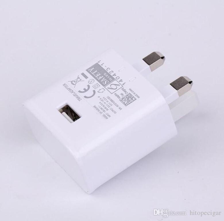 Hızlı Seyahat USB Duvar Şarj QC 2.0 5 v / 2A Adaptörü Hızlı USB Duvar Şarj İNGILTERE Tak Için Galaxy S8 S7 Kenar S6 S6 Kenar