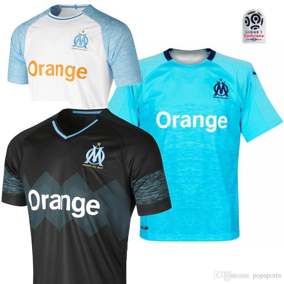 c2759f5e0 Compre 18 19 Olympique De Marseille Camisa De Futebol 2018 2019 Camisa De  Futebol Camisa De Futebol De Popsports