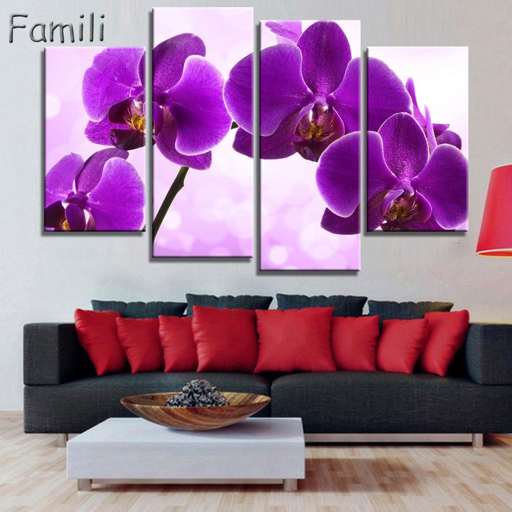 Grosshandel Drucken Poster Leinwand Wand Kunst Orchideen Dekoration