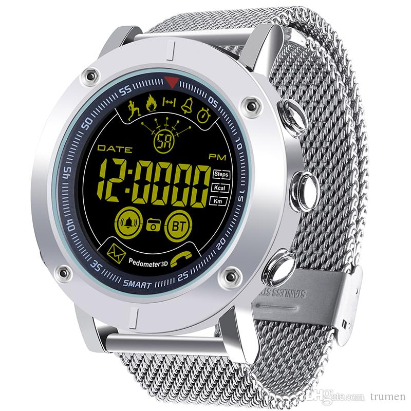 d43d9fc7d0b EX19 Smart Watches Waterproof 5ATM Pedometer Smartwatch Ultra Long Standby  Fitness Tracker Watch Silver Strip EX19 Smart Watch Smart Watches For Men  ...