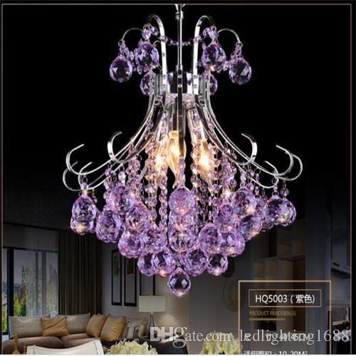 50см люстра K9 хрустальные потолочные светильники прозрачный фиолетовый красный подвесной светильник роскошный американский в том числе светодиодные лампы теплый белый свет люстра