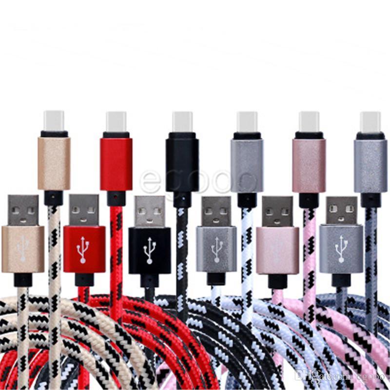 USB Geflochtene Kabel 1m 2m 3m 0,25m Typ C-Kabel-Daten für Samsung Sony Smart-Phone