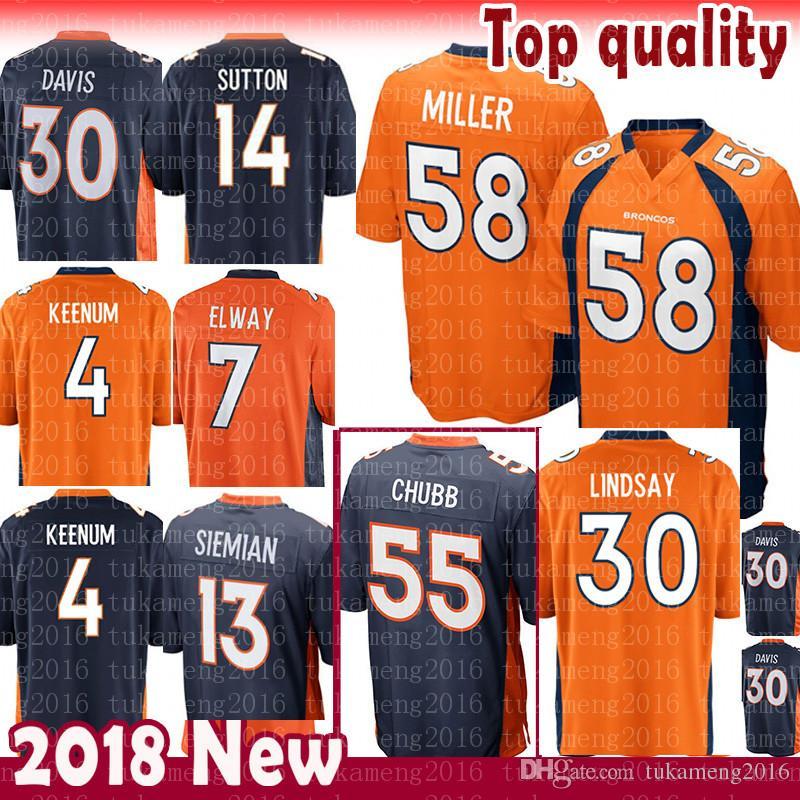 12fb66439 2019 55 Bradley Chubb 58 Von Miller Denver Jersey Broncos 30 Phillip  Lindsay 4 Case Keenum 7 John Elway Terrell Davis 14 Courtland Sutton  Siemian From ...