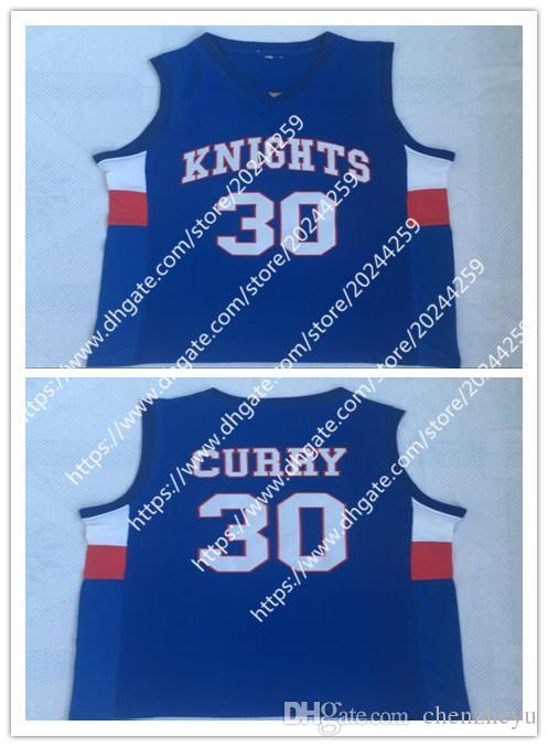 56da45de09f8 Men s Stephen Curry Jersey  30 Charlotte Christian Knights High ...
