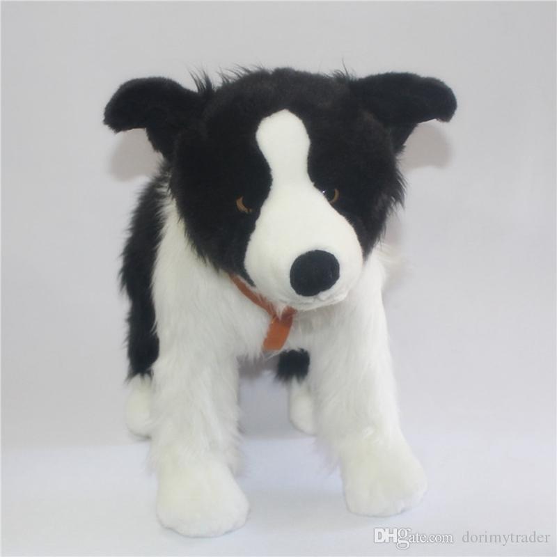 2019 Simulation Animal Dog Plush Toy Border Collie Doll Small Dog