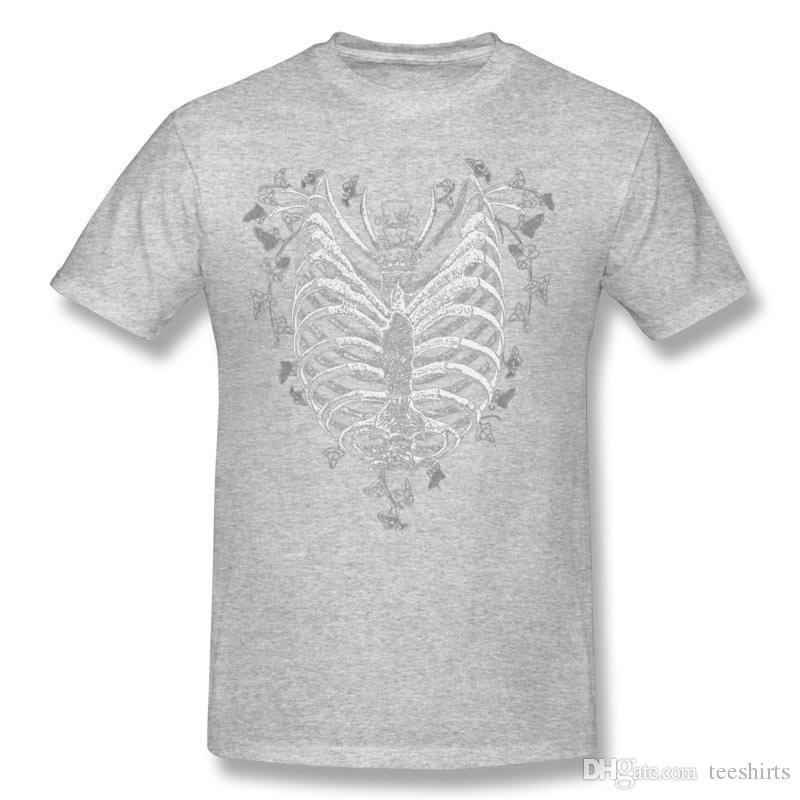 Migliore vendita uomo cotone ribcage cuore t-shirt uomo colletto tondo bianco camicie maniche corte taglie forti taglie normali