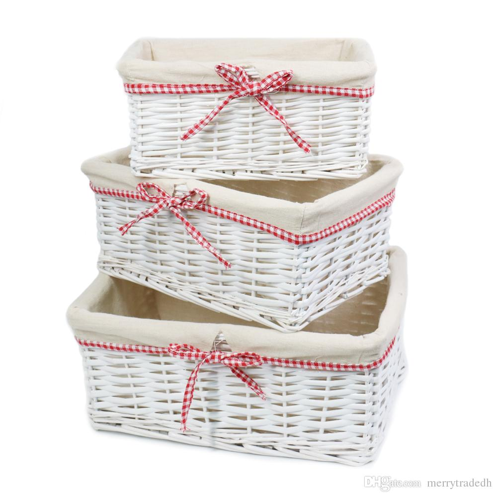 Storage Containers.Home Storage Bins For Toys Laundry Clothing Sundries  NeateningSet Of 3 Handmade Woven Wicker Storage Basket Shelf Baskets Home  Storage ...