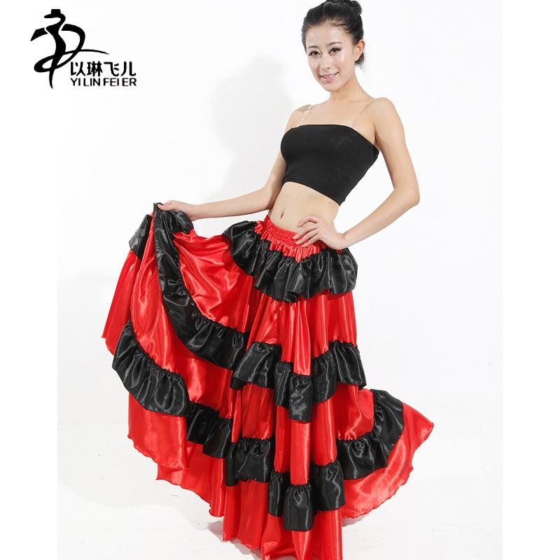 a11db6580ce9 Brazil Dance Costume Spanish Performance Use Gypsy Robe De Flamenco Skirts  Belly Dance Dress Red Skirts UK 2019 From Rebecco, GBP £13.40 | DHgate UK