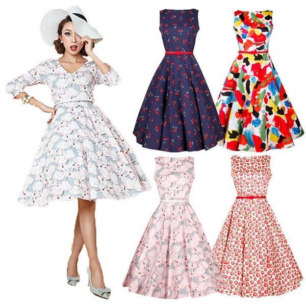 560471dd83133d ROCKABILLY Jahre Vintage Style Jahre Großhandel 50er Kleid 60er ONwPX8n0k