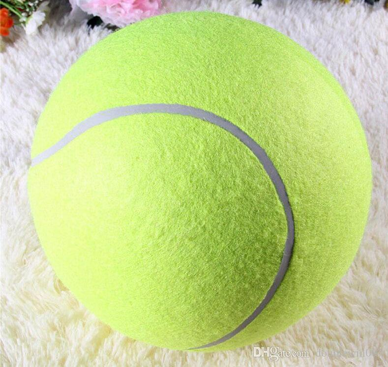 24CM Big Inflatable Tennis Ball Dog Chew Toy 9.5inch Giant Pet Toy Mega Jumbo Kids Toy Ball Outdoor Supplies
