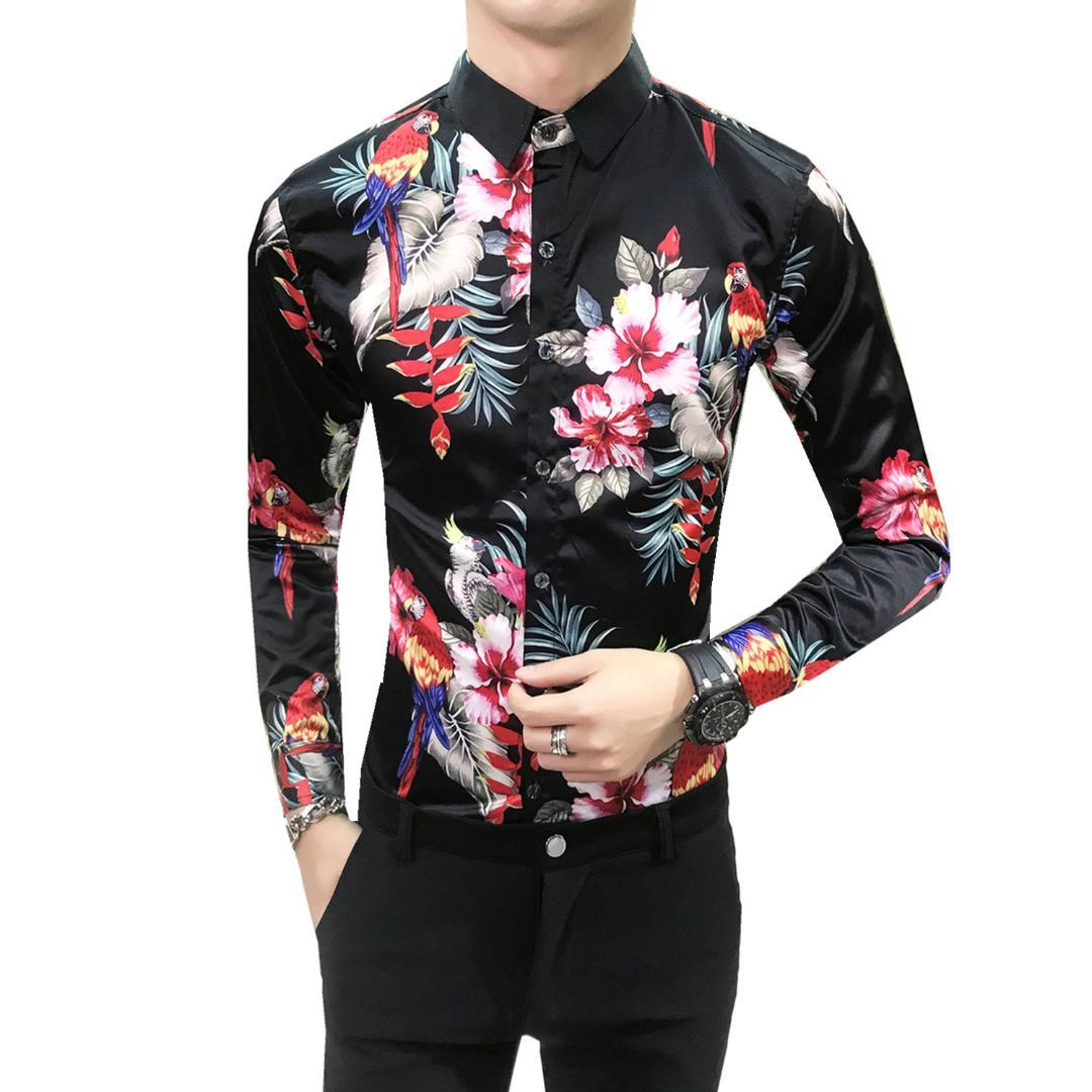 f70761e6d47c2 Compre Marca Blanco Hombres Camisa De Manga Larga Chemise Homme Diseño De  Negocios De Moda Para Hombre Slim Fit Camisas De Vestir Social Casual Camisa  A ...