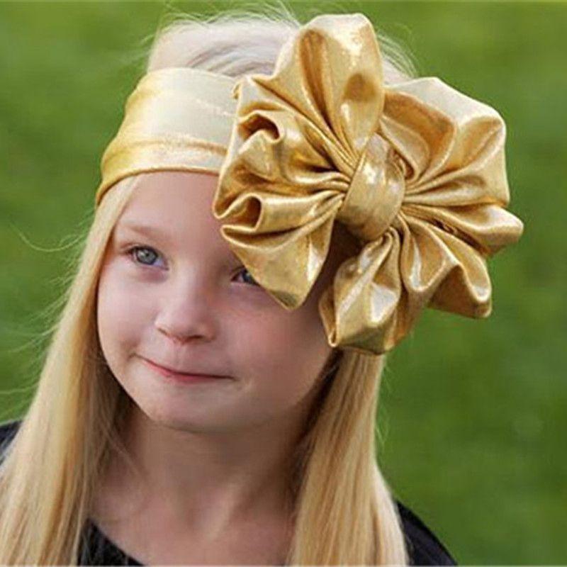 Girls Big Floppy Bow Headband For Kids 2018 Solid Elastic Hair Band Large  Bows Children Soft Hair Accessories Girls Hair Accessories Storage Wedding  Hair ... c6c9881d36c
