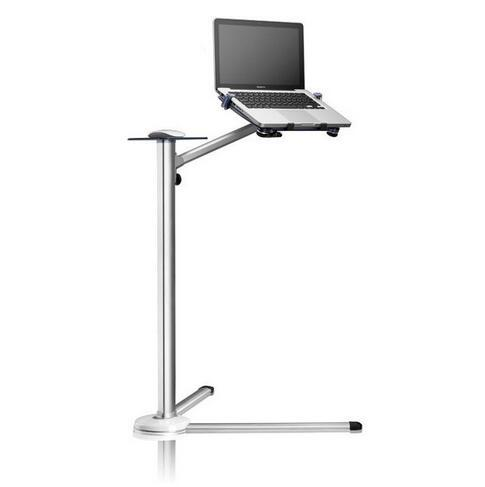 360 Degree Rotation Height Adjustable Laptop Floor Stand With Mouse