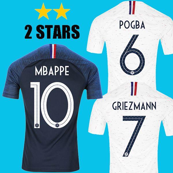 2018 MBAPPE Soccer Jersey POGBA Football Shirt LACAZETTE Griezmann ... 4864f8680