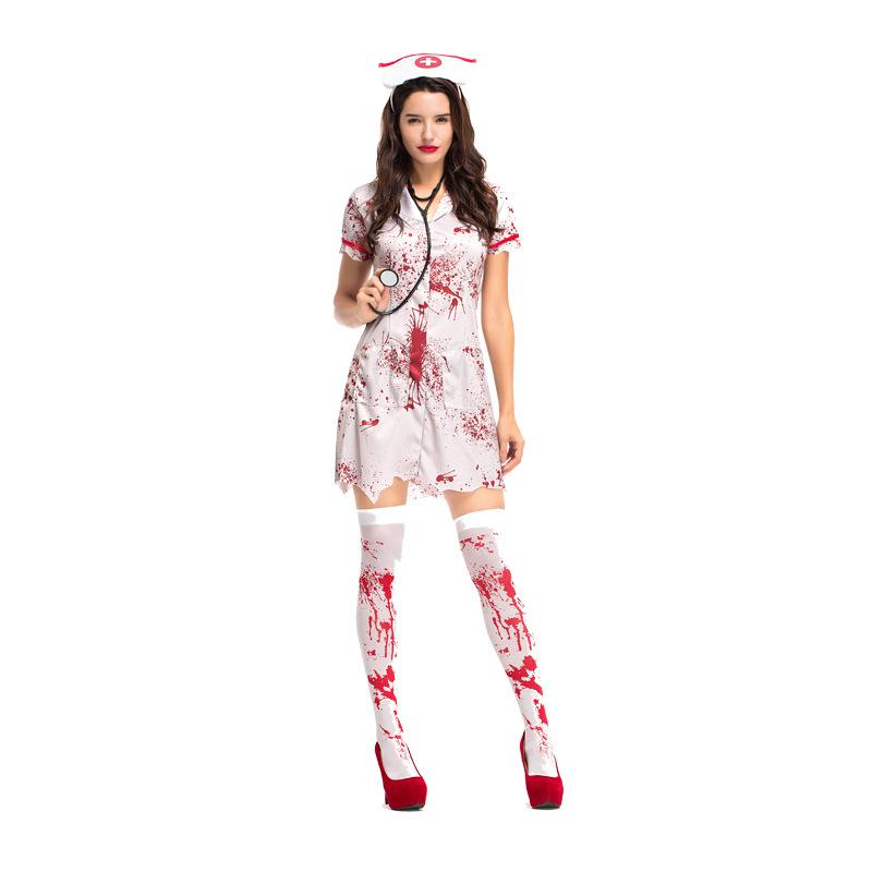 5fba2f39d6c4f Women Adult Bloody Zombie Hacker Nurse Halloween Costume Scary Costumes  Cheap Scary Costumes Women Adult Bloody Zombie Hacker Nurse Online with  $35.48/Piece ...