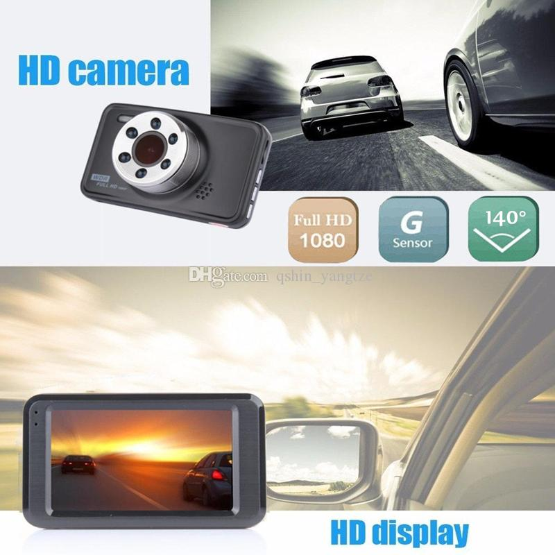 1080P car DVR night vision camcorder driving video recorder camera full HD 3 inch 140 degrees G-sensor WDR loop recording parking monitor