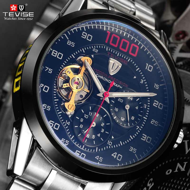 2f82a62dc13f Compre Tevise Marca De Moda De Lujo De Los Hombres Relojes Mecánicos  Automáticos Reloj Esqueleto Hombre De Negocios Impermeable Relogio  Masculino A  38.66 ...
