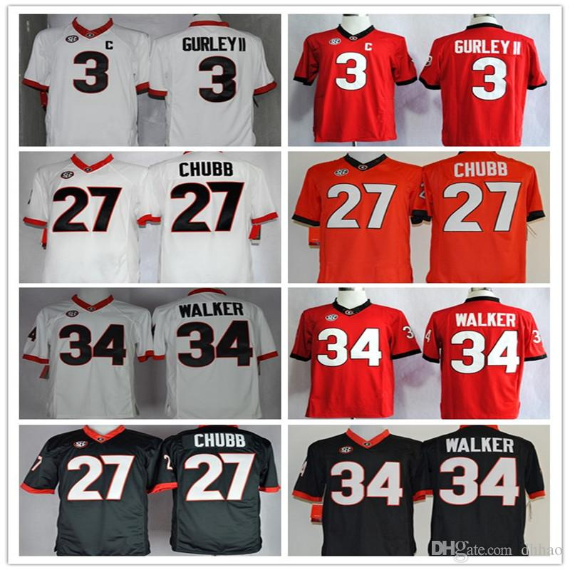2017 Hot New Mens UGA College Football Stitched Jerseys  27 Nick ... 7ea7fdb18