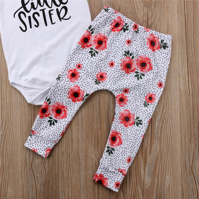 Baby Kids Girls Sister Matching Clothes 2018 Summer Family Look Cotton Romper /T-shirt+Pants/Skirt Family Matching Outfits