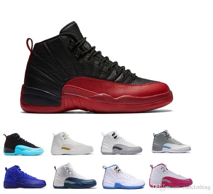 0b3ecf9e0a7c 2018 12 12s Men Basketball Shoes Flu Game Wolf Grey University Blue ...