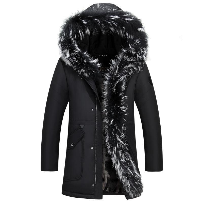 Großhandel 2018 Winter Dicke Warme Daunenjacke Casual X Lange Weiße Ente  Daunenjacke Mit Kapuze Natürliche Waschbär 35 Grad Outwear Von Fangfen, ... 8010b17205