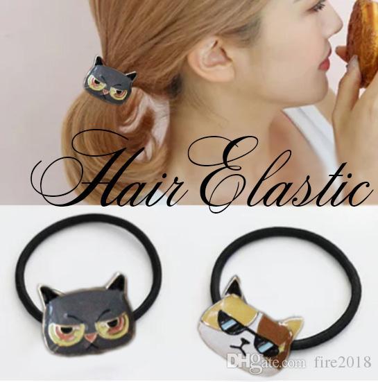 b4501c69de8a0 Acquista Accessori Capelli Serie Cat Cat Caldo Catene Capelli Pony Tails  Fashion Hair Corda Capelli Le Donne Art. Blhw155244 A  3.47 Dal Fire2018