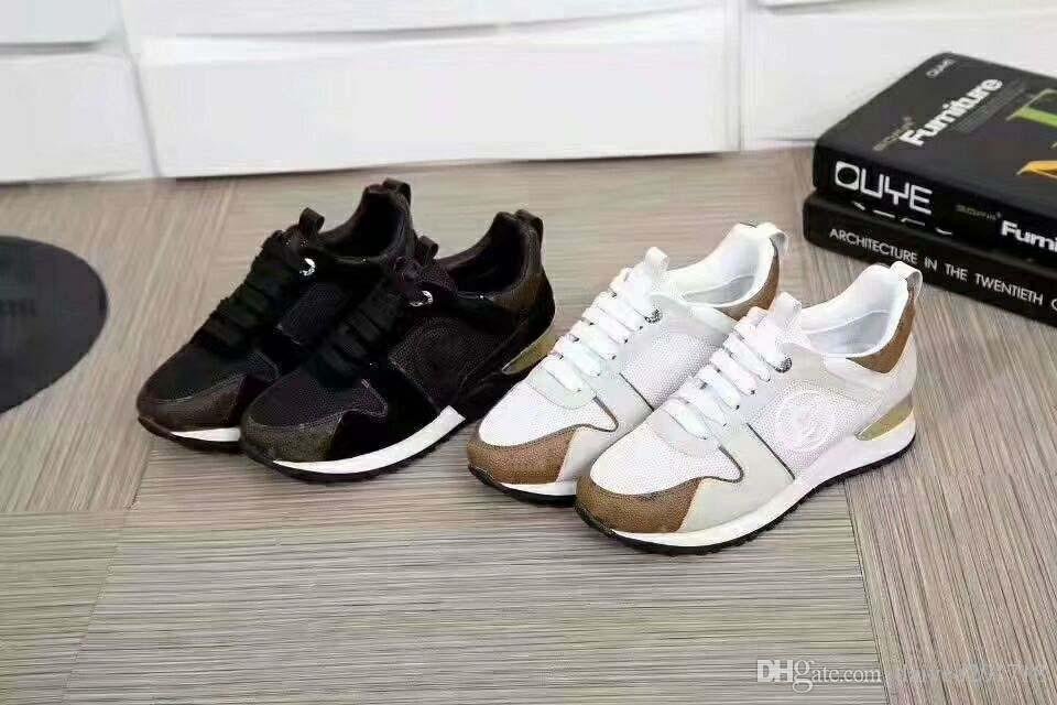 Brand new classic European luxury style casual shoes for men and women, leather Velcro lace, closed rubber outsole, multicolor choice.