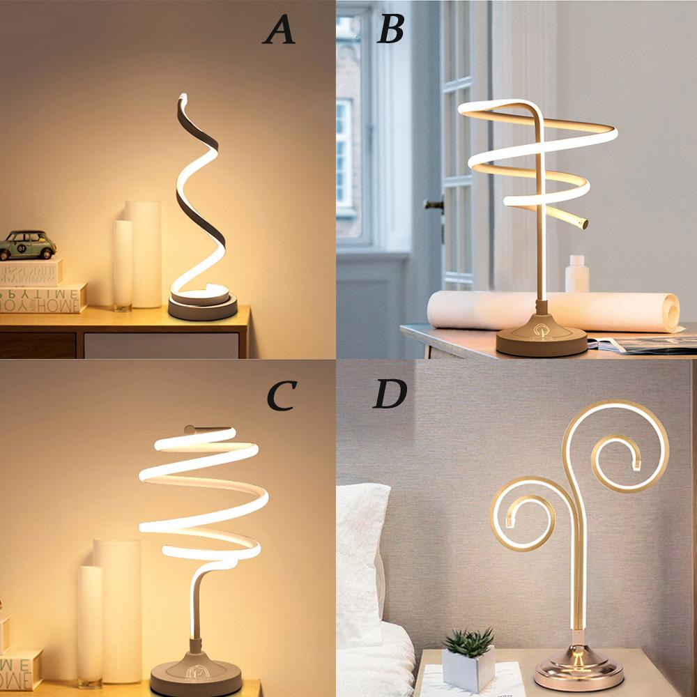 . FDIK Four Styles Dimmable Post modern Table Lamp Bedroom Home Lamp  Decorative Led Table Living Room Indoor Home Decoration