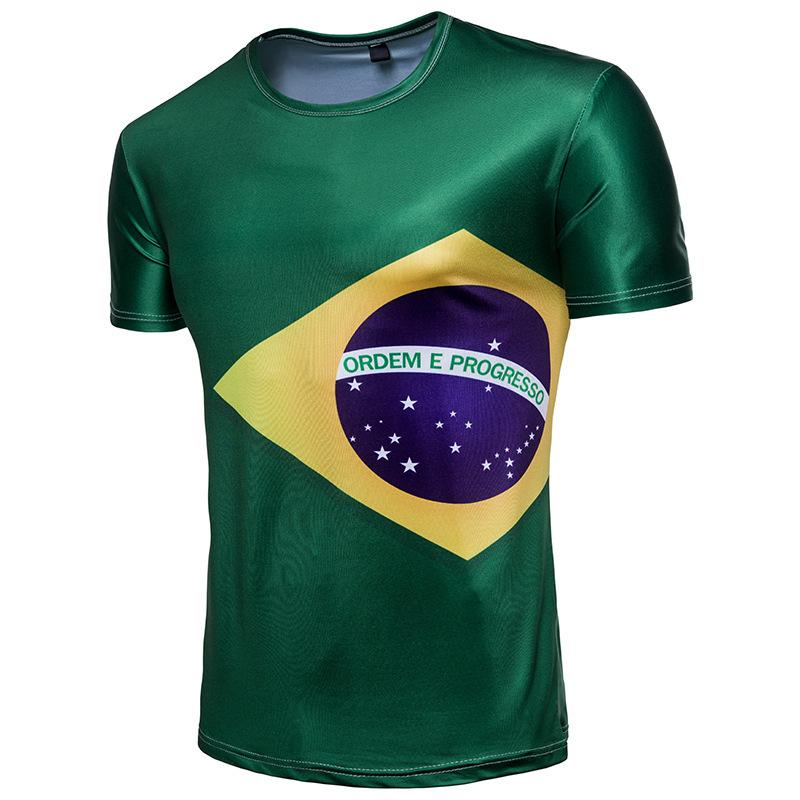 b64c7879e Men S Tee T T Shirt Streetwear Coat Half Sleeve Russia 2018 World Cup Brazil  Selecao Team Short Sleeve New Style Formal Shirts Denim Shirts From  Mizon888